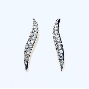 Swarovski Pave Clear Crystal Aline Earrings